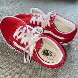 Kid's Red Suede Vans